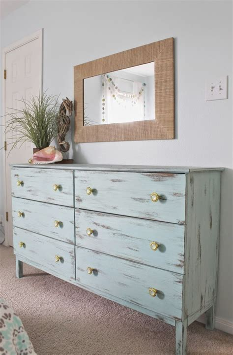 beach ls for bedroom beach themed bedroom aqua painted unfinished dresser from