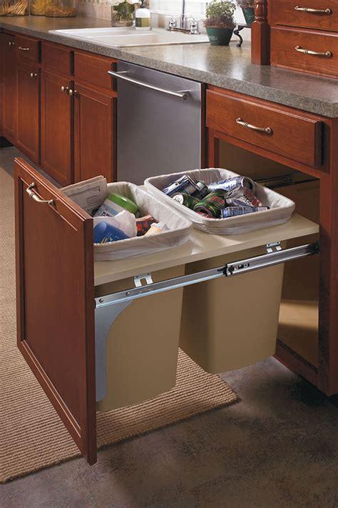 waste baskets for kitchen cabinets base wastebasket cabinet aristokraft cabinetry 8908