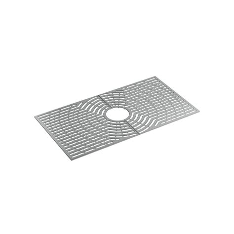 sink mat home depot sterling ludington 30 in ash grey silicone kitchen sink