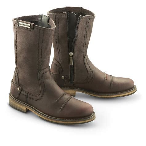 zipper motorcycle boots women 39 s harley davidson skylar side zip boots burnt