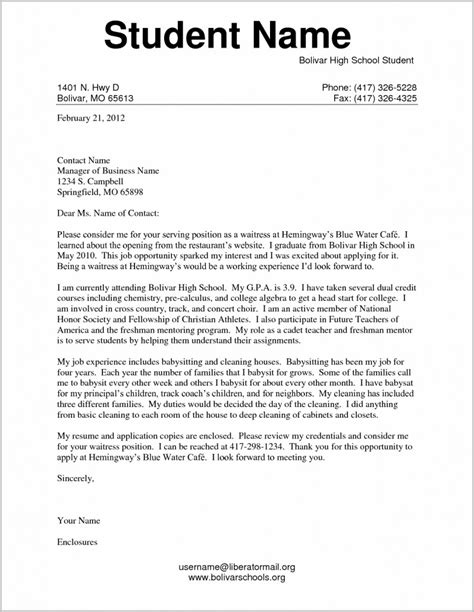 17070 resumes and cover letters exles cover letter sle for resume student cover letter