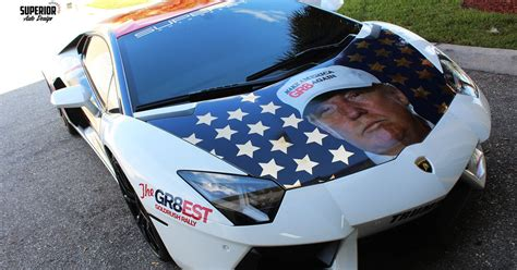 lamborghini owner decks  car  donald trump wrap fox