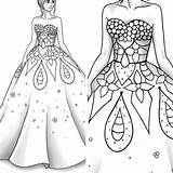 Coloring Printable Clothes Colouring Sheet Inspirations Marvelous 570xn Barbie Line Adult Template sketch template