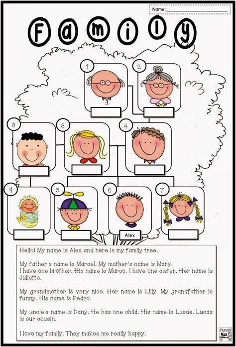 family tree worksheet  grade  family worksheet