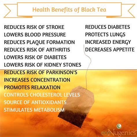 black tea benefits infographic health benefits of black tea econugenics blog