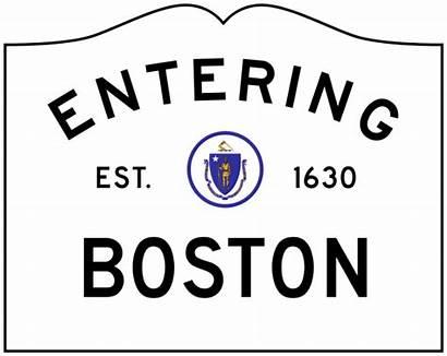 Svg Boston Sign Ma Entering Massachusetts Clip