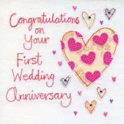 1st wedding anniversary anniversary cards collection karenza paperie
