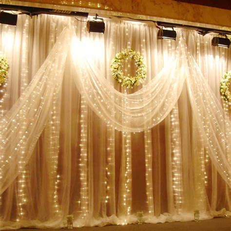 white battery christmas lights excelvan 3mx3m 300led string light curtain light warm