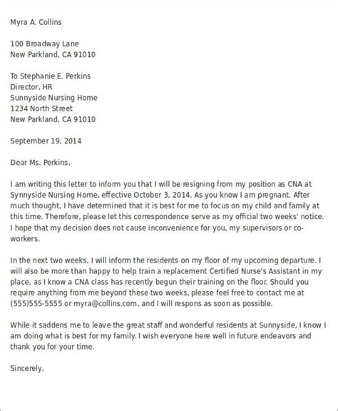 resignation letters samples examples templates