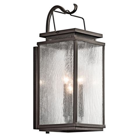 kichler lighting manningham olde bronze outdoor wall light