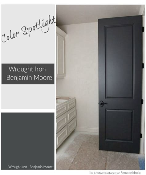 grey stained cabinets kitchen remodelaholic color spotlight benjamin wrought iron