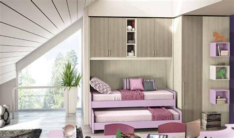 Da Letto Con Ponte - cameretta a ponte con 2 letti e cabina armadio vari colori