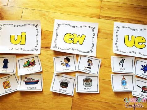 long vowel teams word work packet bundle  images