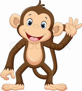 Illustration of cute monkey cartoon | Stock Vector | Colourbox