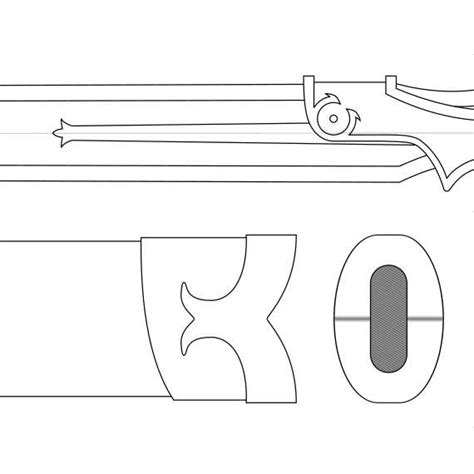 ciri sword template lambent light blueprint sword art online from