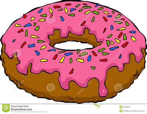 cartoon donut stock vector illustration  cute