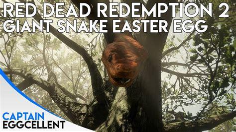 red dead redemption  giant snake easter egg youtube