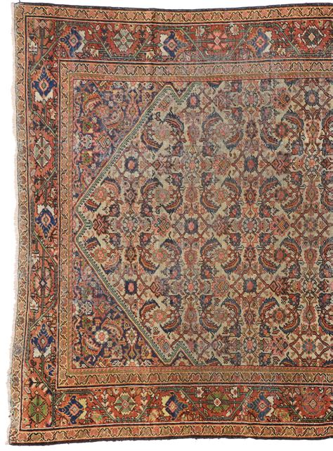 distressed area rug distressed antique mahal rug with modern