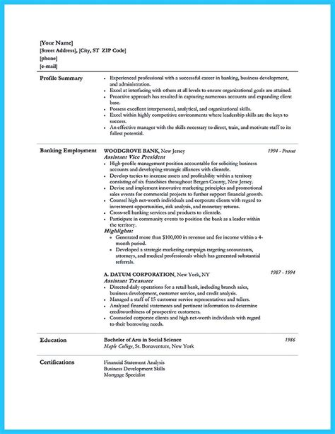 Resume Template Questions by Cool Starting Successful Career From A Great Bank Manager