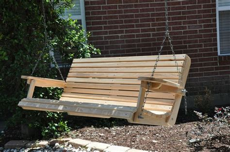 3 Ft Porch Swing by 5ft Cypress Porch Swing Wood Wooden Outdoor Furniture Ebay