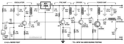 stage fm transmitter circuit schematic