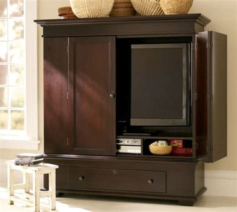 armoire cabinet pottery barn whitmer smart technology media armoire pottery barn