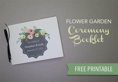 wedding program template  print