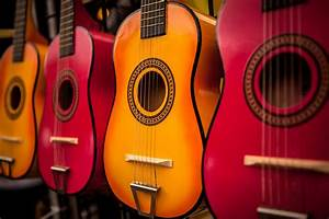 colourful acoustic guitar Full HD Wallpaper and Background ...