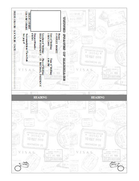 passport invitation template pre designed printables