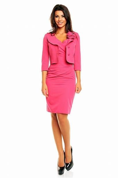 Pink Jacket Shift Rose Collar Dresses