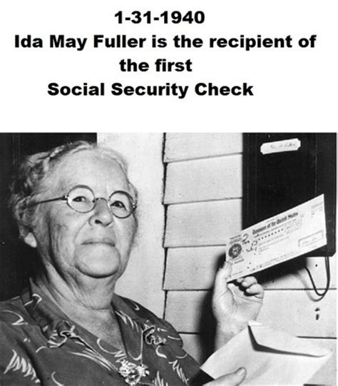 Image result for 1940 - The first Social Security check