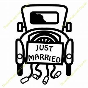 Just Married Car - 12452