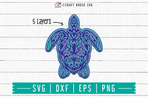 This free design comes with our premium license which allows commercial and personal use. FREE 3D Turtle Layered Mandala SVG | FB89 - Craft House SVG