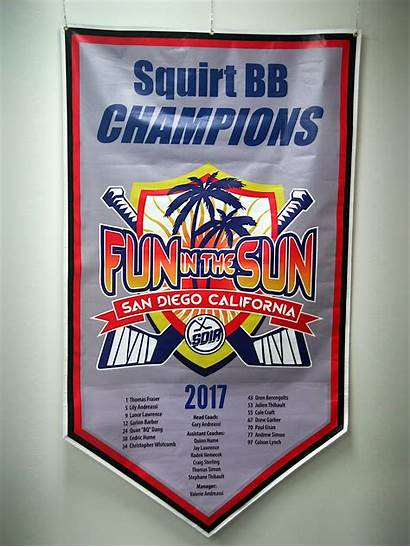 Banner Banners Tournament Hockey Championship Team Roster