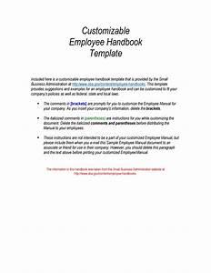 42 Best Employee Handbook Templates  U0026 Examples  U1405 Templatelab