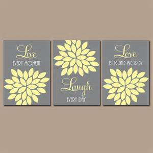 live laugh wall yellow gray nursery canvas or