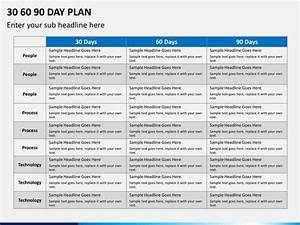 30 60 90 day plan powerpoint template sketchbubble With the first 90 days plan template