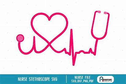 Nurse Svg Stethoscope Nursing Clipart Clip Ekg