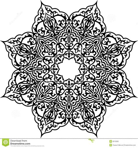 islam pattern stock vector image  black ornate circle
