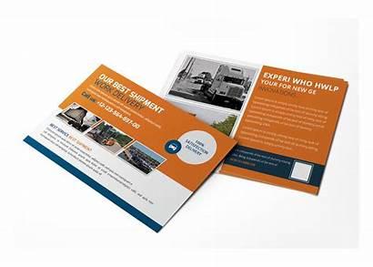 Postcard Business Psd Template Shipment