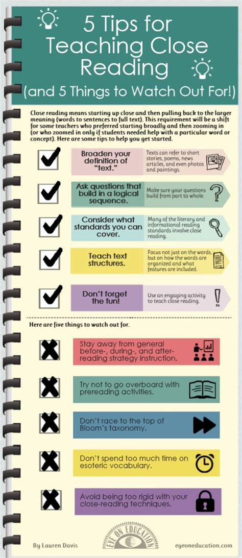 5 Tips For Teaching Close Reading  Close Reading Pinterest