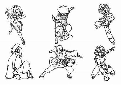 Naruto Coloring Characters Drawing Amazing Pages Getdrawings