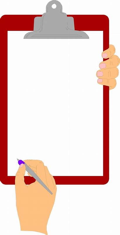 Holding Clipboard Clipart Hands Hand Blank Illustration