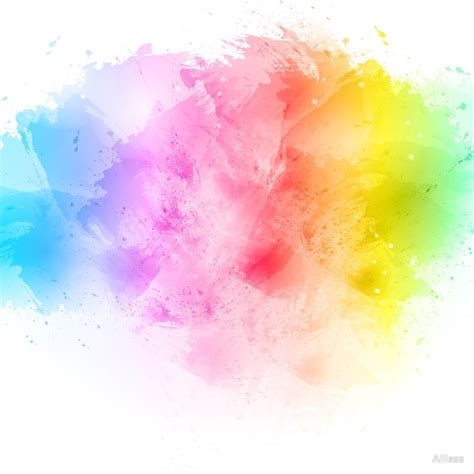 quot rainbow abstract artistic watercolor splash background quot by alliass redbubble