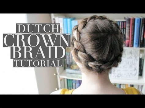 dutch crown braid tutorial youtube