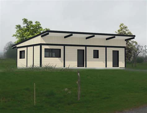maison de plain pied 224 ossature bois et toit plat nos projets maison plain pied