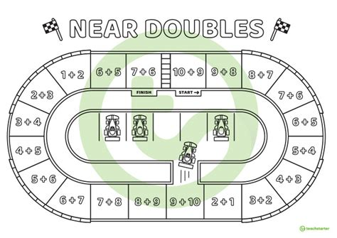 doubles number facts board game teaching resource