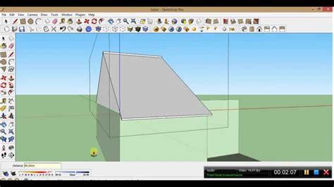 Cara Membuat Atap Google Sketchup Youtube
