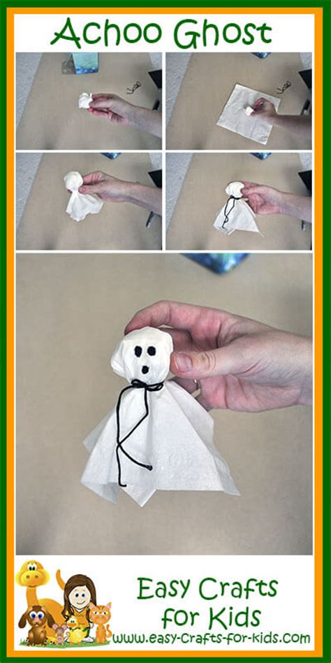 preschool halloween crafts kleenex turned  achoo ghosts