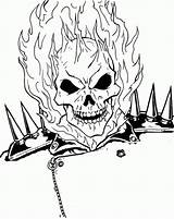 Ghost Rider Coloring Pages Ghostrider Burning Face Printable Drawing Head Boys Superheroes Cool Ghosts Designlooter Drawings Angel Print Gost Marvel sketch template